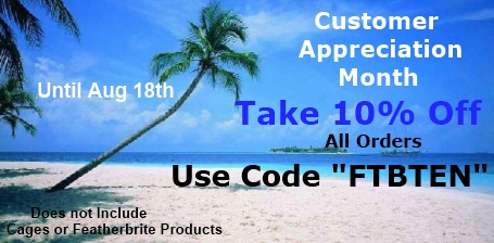 Customer Appreciation at FunTime Birdy - Save an Additional 10@