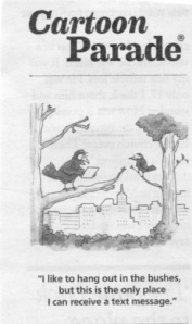 Cartoon of Birds in Tree