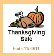 Thanksgiving Sale at FunTime Birdy